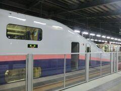 2階建て新幹線E4系、MAXとき348号.東京行が待機中。 これに乗れば、今日中に東京に帰れます。 東京着22:28です。  でも、今日は帰りませんよ。