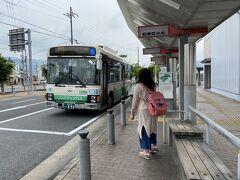 8:36 加茂駅   8:39発の和束小杉行きバスが来ました。