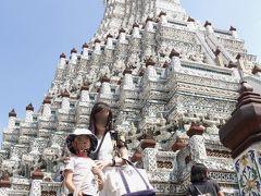 さて、せっかくなので仏塔の途中まででも登ってみましょ、これ登ったらホテル戻ろうね。と言った瞬間、元気チャージされた息子。