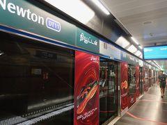 SomersetからNewton経由でBugisへ   隣のビル 313@Somersetの下の駅から地下鉄で移動。 日本のものに比べてはるかに上手に整備されているような気がします。
