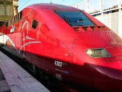 3日目に高速列車のタリスでベルギーのブリュッセルへ移動。 赤い車両がとても美しく、かっこいい!!