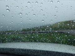 ドライブ再開。スタートから7時間以上掛けて、ようやく襟裳岬に到着。 ( ´;д;)雨が降り出してきやがった・・・。