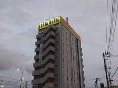今日宿泊するホテルの外観です。スーパーホテル長泉・沼津インター