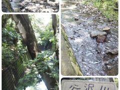 流れる小川は谷沢川、多摩川水系の一級河川です。