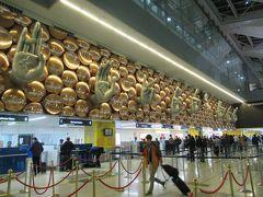 約3時間の搭乗で「インディラ ガンディー国際空港」には