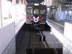 乗り換えて終点の藤崎宮前に到着です。頭端式ホームでした。 最初の予定では藤崎宮へ行くつもりでしたが駅前を散策しただけで戻って来ました。