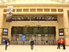 ブリュッセル中央駅。地下駅だから、あまりパッとしないんだよね。  だから南駅が中心的な役割を果たしている感じ。