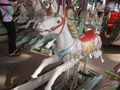 回転木馬(メリーゴーランド)<カルーセルエルドラド> 木馬は、優しい目をしています。