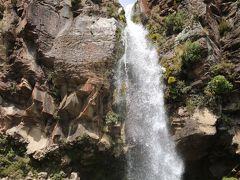 こっちが本物のタラナキ滝です。 周りの岩の形や滝の下側がドーム状になっているのが面白いです。 滝の上に行ける道もあるのですが、ツアーでは安全上の理由で駄目でした。実際、下から上の人を見上げると、大丈夫?怖くないの?って気持ちになります(笑)