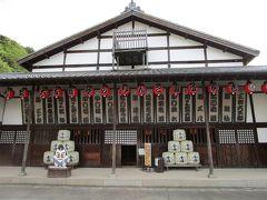 参道を外れて「旧金毘羅大芝居」へ・・・現存する中では日本最古の芝居小屋で別名、「金丸座」とも呼ばれ、国の重要文化財の指定を受けているそうです。