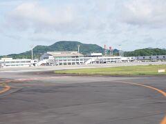 無事着陸~!  空港ちっちゃいな。