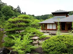 園内の「松楽亭」では、書院造りの間で抹茶と生菓子が楽しめます。