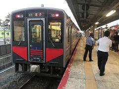 大人しく改札からは出なくて、米子行きの列車に乗り、引き返すことにします。