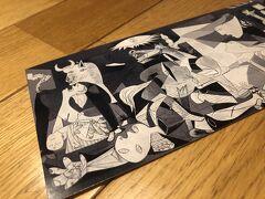 マドリードのソフィア王妃芸術センターで購入したゲルニカのポストカード。  ゲルニカは写真撮影禁止なので、ポストカードを旅の記念としました。