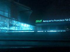 2/12 早朝の便でポルト空港からマドリード空港へ向かいました。 鉄道が運行していない時間のため、ホテルからチャーター車で送っていただきました。ポルト空港は中心地から近いのですぐに着きます。