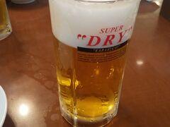 少し歩いたから冷えたビールが旨い!