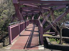 山中温泉の中でも有名なスポットのひとつ、あやとり橋にやってきました。