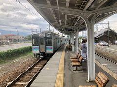 14:38 穂高駅に到着