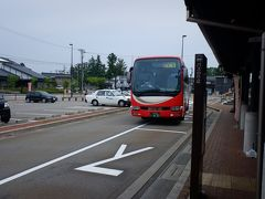 穴水駅から特急バスに乗ります。特急バスは少し山の中走るので、景色は代り映え無かったです。