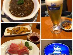 19時30分に仙台空港着。空港~仙台駅~ホテルへ向かう途中で夕食にしました。 今日はホテル手前にある夕焼麦酒館。地ビールの種類がけっこう豊富。カルパッチョを頼んだら今日はお刺身の方が良いですよと中トロのお刺身になりました?