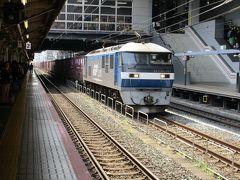 昼から半日休みをいただき、一旦帰宅した後京都駅で家内と合流。 ダイヤが若干乱れ気味でしたが、貨物列車を撮影しながら新快速敦賀行きを待ちます。