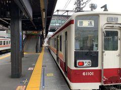 さて、普通電車の出発の時間になりました。 14:33発、会津田島ゆき2両編成の電車に乗ります!