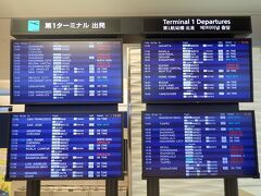 2020年3月6日の成田空港。 中国行きの路線は軒並みフライトキャンセルとなっていましたが、その他の国に行く便は、ほぼ普段通りの運航でした。