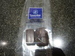 デザートはLeonidas(レオニダス)のチョコ。 2個だけ購入しました。
