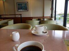 食後、朝のコーヒーを飲んで帰ります。