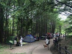 国立公園 この辺りは北漢山国立公園になっています。  川遊びしようかと思いきや、密ですw  みんな考えることは同じですね(苦笑)