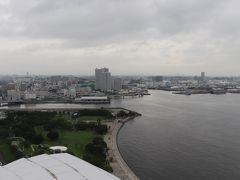 左は臨港パーク、東神奈川方面。  左端にザ・カハラ・ホテル&リゾート横浜の先端が少し見える。 2020年9月23日開業予定。