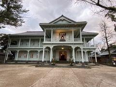 って思ったのに、隣の洋館が気になってしまい…。松江市工芸品陳列所として明治時代に建てられたそうです。