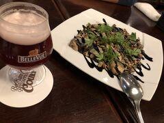 ベルジアン ブラッスリーコート ルーヴェン   秋刀魚の温製サラダがきました