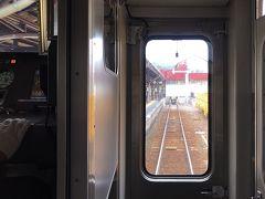 小樽駅5番線に到着。  ATS地上子の4連チャン。