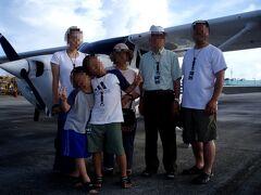 日本人教官によるセスナ体験操縦。義父がシニアパイロットコース、甥がキッズパイロットコースに参加しました。