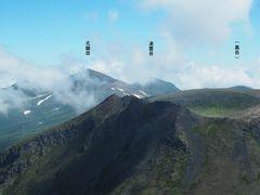 そして北海道第2の高峰、北鎮岳。黒岳は見えてないような気がしていましたが、やはり雲の中。