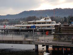 チューリッヒ湖の遊覧船です・・・