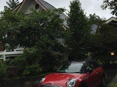泉郷の八ヶ岳コテージ到着!  今日は花ホテル(露天風呂付きのコテージ)に宿泊です(^_^)