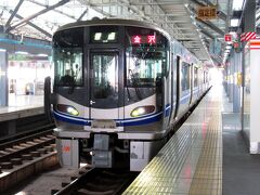 特急サンダーバード1号で福井へ。福井からは普通電車に乗り換えて大聖寺まで向かいます。緊急事態宣言が解除されていても、まだ旅行客の姿は少ない。