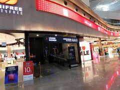 イスタンブール新空港ビジネスラウンジ入り口。搭乗券をスキャンすると入れます。