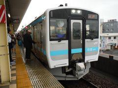 バスを降りて八戸駅までJRで鉄分補給します。6時11分発始発は新型気動車が来ました。八戸駅は北海道新幹線を含めて最も東にある新幹線の駅だそうです。2002年12月に開業しました。