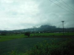 在来線からは岩手富士と水田がきれいに見えます。在来線を旅する楽しみを味わいました。