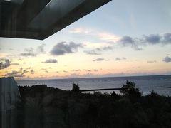 朝の様子を窓から
