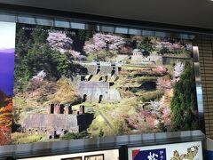 セキュリティチェックを済ませて搭乗エリアへやってきました。  愛媛には桜の美しい城砦があるんですね。