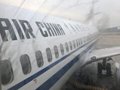 いよいよ最後のフライト、CA159便にて最終目的地常滑国際へ。