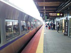 まずは函館行の特急北斗で新函館北斗駅へ☆ あえて自由席にして、人が近くにいない席をうまくゲット☆ まさに「新北海道スタイル」笑