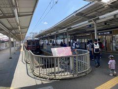 石橋阪大前駅で箕面行の電車に乗り換えます。