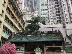 合間に香港観光。  ビル群に突然現れる「文武廟」