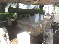 さて、屋外の展示場へ移動します エントランス広場の隅にあったのは「午砲」 明治4年から昭和4年まで、江戸時代の時の鐘に代わって皇居内旧本丸跡で正午を通報したものだそう