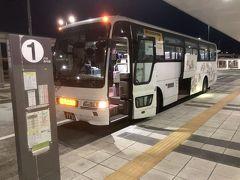 バスは既にスタンバイ(19:55発)  荷物だけ預けます。